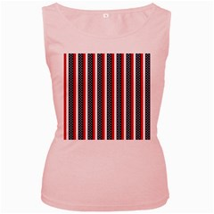 Patriot Stripes Women s Tank Top (Pink)