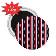 Patriot Stripes 2.25  Button Magnet (10 pack)
