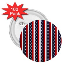 Patriot Stripes 2.25  Button (100 pack)