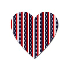 Patriot Stripes Magnet (heart)