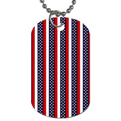 Patriot Stripes Dog Tag (two Sided)