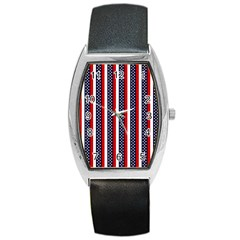 Patriot Stripes Tonneau Leather Watch