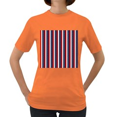Patriot Stripes Women s T-shirt (Colored)
