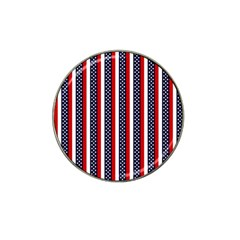 Patriot Stripes Golf Ball Marker 10 Pack (for Hat Clip)
