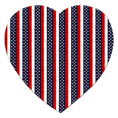 Patriot Stripes Jigsaw Puzzle (Heart)
