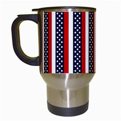 Patriot Stripes Travel Mug (White)