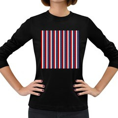 Patriot Stripes Women s Long Sleeve T-shirt (Dark Colored)