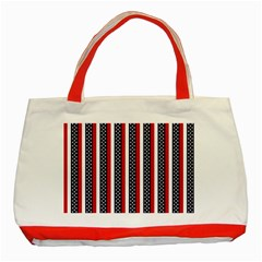Patriot Stripes Classic Tote Bag (red)