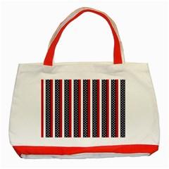 Patriot Stripes Classic Tote Bag (Red)
