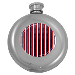 Patriot Stripes Hip Flask (Round)