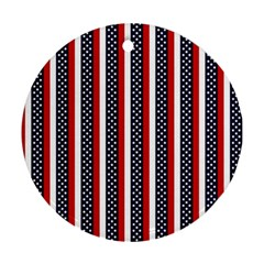 Patriot Stripes Round Ornament (two Sides)