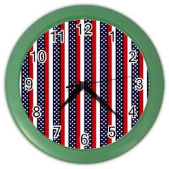 Patriot Stripes Wall Clock (color)