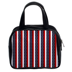 Patriot Stripes Classic Handbag (two Sides)