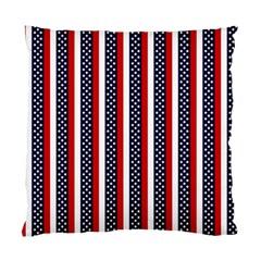 Patriot Stripes Cushion Case (single Sided)