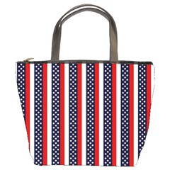 Patriot Stripes Bucket Handbag