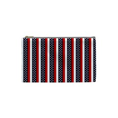 Patriot Stripes Cosmetic Bag (small)