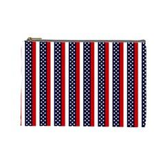 Patriot Stripes Cosmetic Bag (Large)