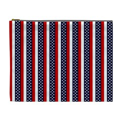 Patriot Stripes Cosmetic Bag (XL)