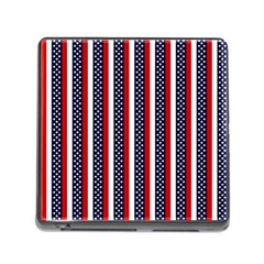 Patriot Stripes Memory Card Reader with Storage (Square)