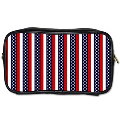 Patriot Stripes Travel Toiletry Bag (Two Sides)