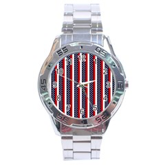 Patriot Stripes Stainless Steel Watch