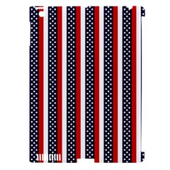 Patriot Stripes Apple iPad 3/4 Hardshell Case (Compatible with Smart Cover)