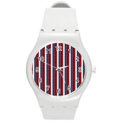 Patriot Stripes Plastic Sport Watch (Medium)
