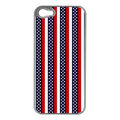 Patriot Stripes Apple iPhone 5 Case (Silver)