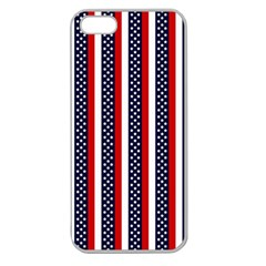 Patriot Stripes Apple Seamless Iphone 5 Case (clear)