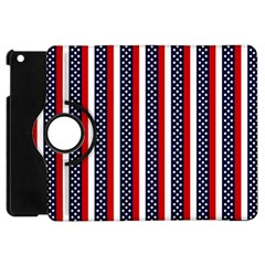 Patriot Stripes Apple iPad Mini Flip 360 Case
