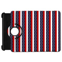 Patriot Stripes Kindle Fire HD 7  (1st Gen) Flip 360 Case