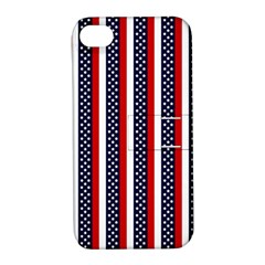 Patriot Stripes Apple iPhone 4/4S Hardshell Case with Stand
