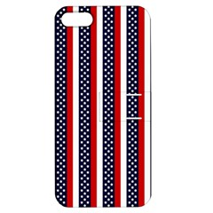 Patriot Stripes Apple iPhone 5 Hardshell Case with Stand