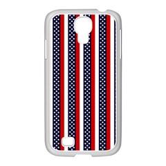 Patriot Stripes Samsung GALAXY S4 I9500/ I9505 Case (White)