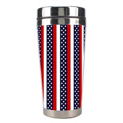 Patriot Stripes Stainless Steel Travel Tumbler