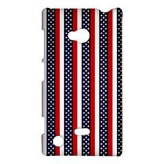 Patriot Stripes Nokia Lumia 720 Hardshell Case