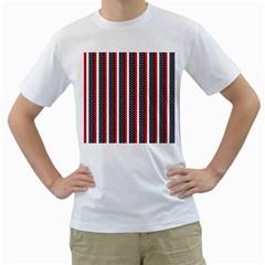 Patriot Stripes Men s T-Shirt (White)