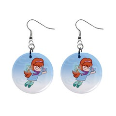 Fairy Flight 1  Button Earrings