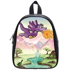 The Wee Purple Dragon School Bag (Small)