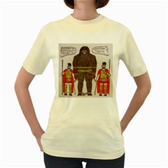 Big Foot & Romans Women s T-shirt (Yellow)