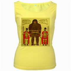 Big Foot & Romans Women s Tank Top (Yellow)