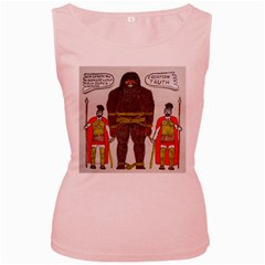 Big Foot & Romans Women s Tank Top (pink)