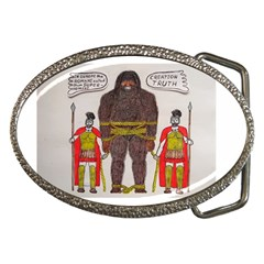 Big Foot & Romans Belt Buckle (oval)