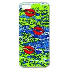 Kisses Apple Seamless Iphone 5 Case (clear)