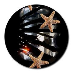 Star Fish 8  Mouse Pad (Round)