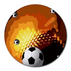 Soccer 8  Mouse Pad (Round)