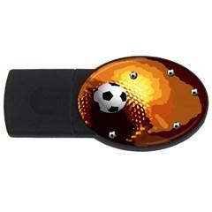 Soccer 2GB USB Flash Drive (Oval)