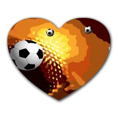 Soccer Mouse Pad (Heart)