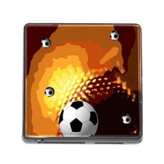 Soccer Memory Card Reader with Storage (Square)