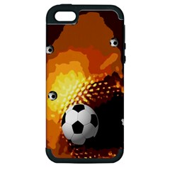 Soccer Apple iPhone 5 Hardshell Case (PC+Silicone)